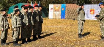 Команда колледжа «Патриот» в районной военно-спортивной игре «Служу Отечеству!»…...