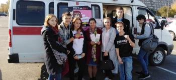 Волонтёры в акции Краевого Центра СПИД…...